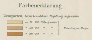 Legende zur Weinkarte von 1904